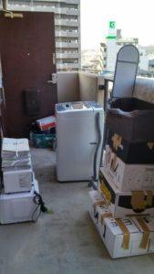 金沢市にてベッド、冷蔵庫、洗濯機等回収処分のご依頼 お客様の画像