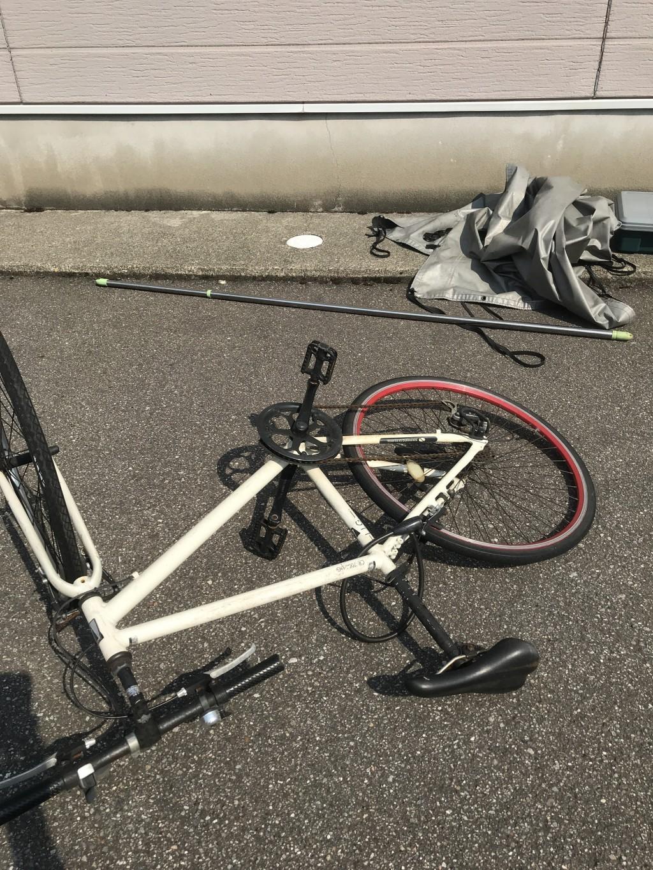 【野々市市本町】引越し後に残った不用品の処分☆自転車や物干しざおなど少量回収できお喜びいただけました!