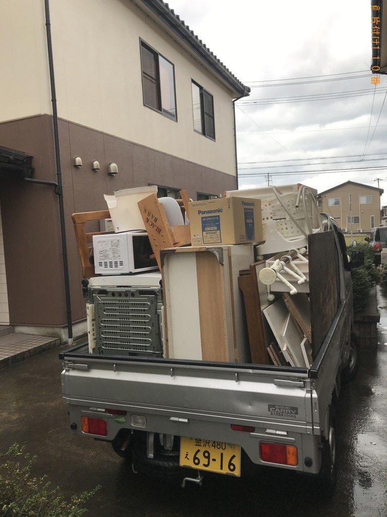 【金沢市近岡町】冷蔵庫、洗濯機、食器棚等の回収・処分ご依頼