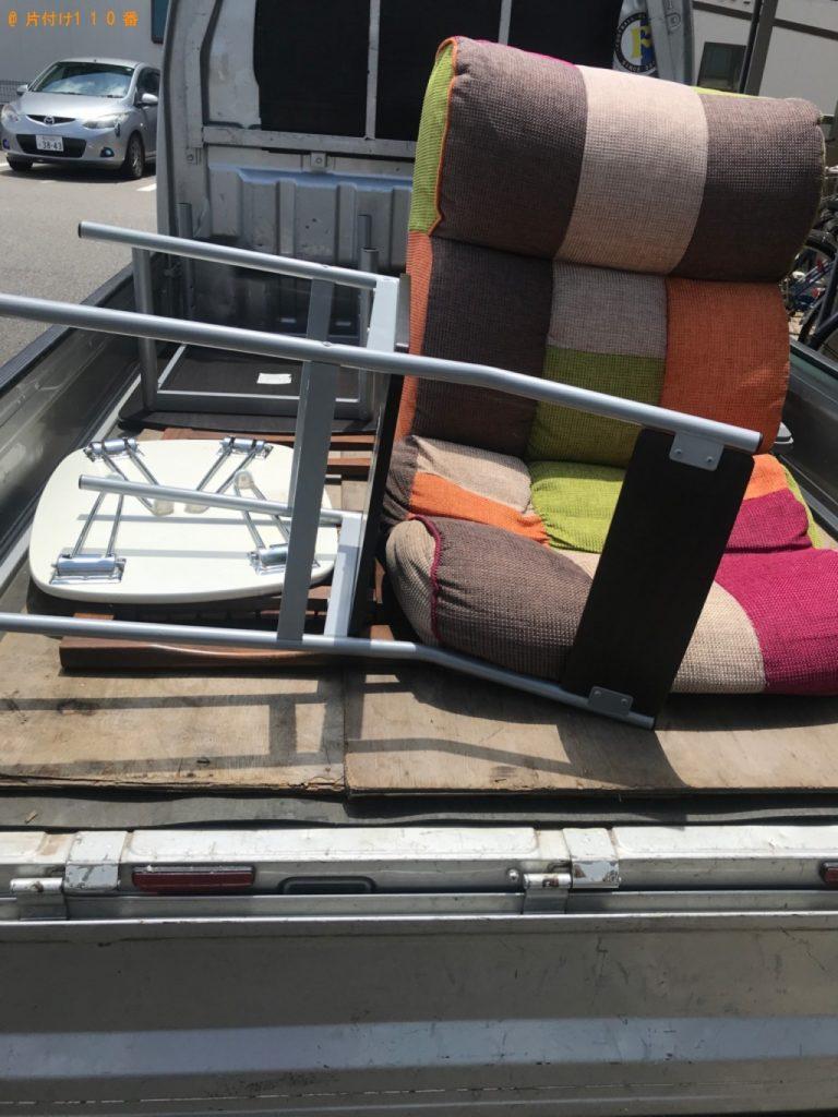 【野々市市】遺品整理に伴い椅子、ソファー、テーブル等の回収・処分ご依頼