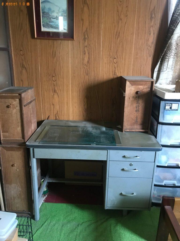 【加賀市】業務用机、シングルベッド、布団等の回収・処分