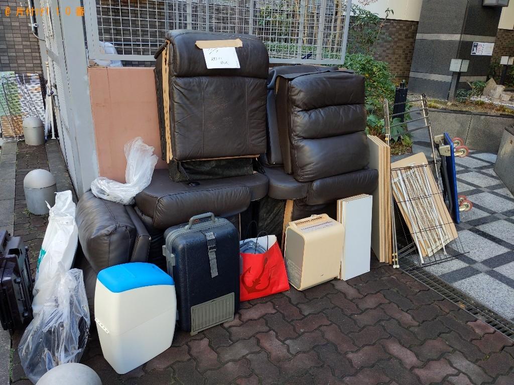 【金沢市】三人掛けソファー、小型家電、スーツケース等の回収・処分
