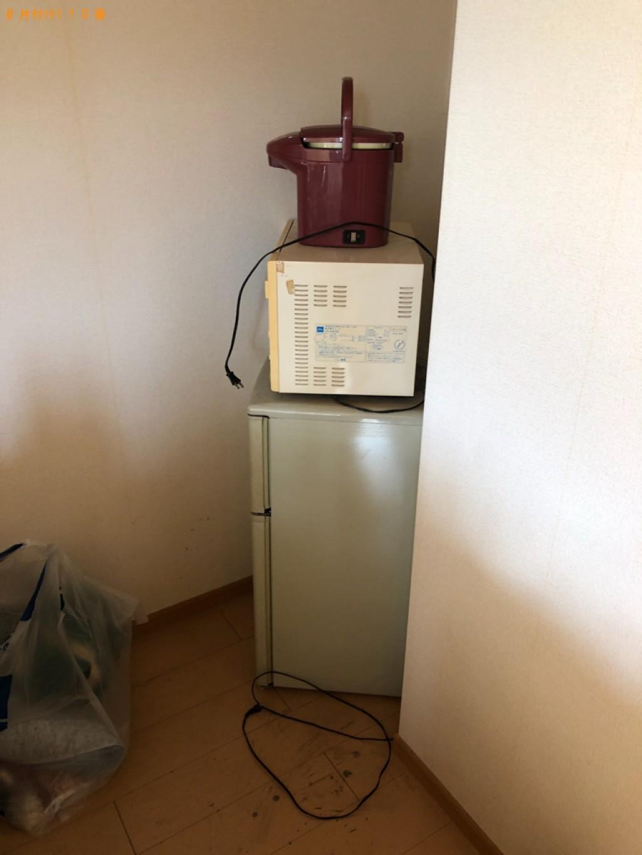 【金沢市】冷蔵庫、洗濯機、マットレス付きシングルベッド等の回収