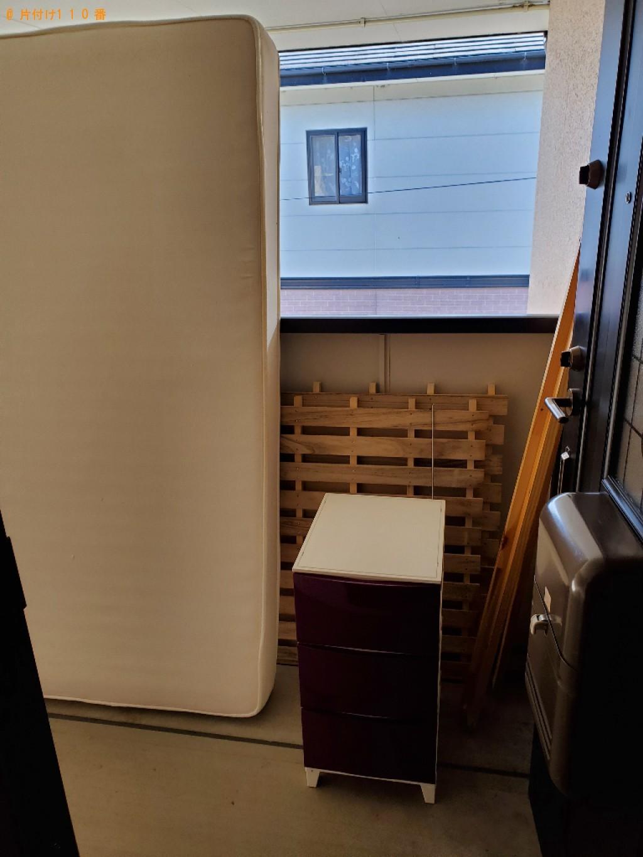 【金沢市】マットレス付きシングルベッドの回収・処分ご依頼