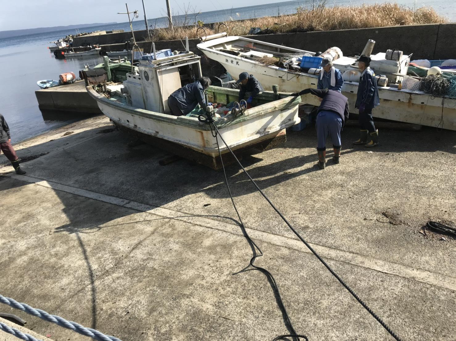 【輪島市】ボートの引き上げ・回収作業のご依頼