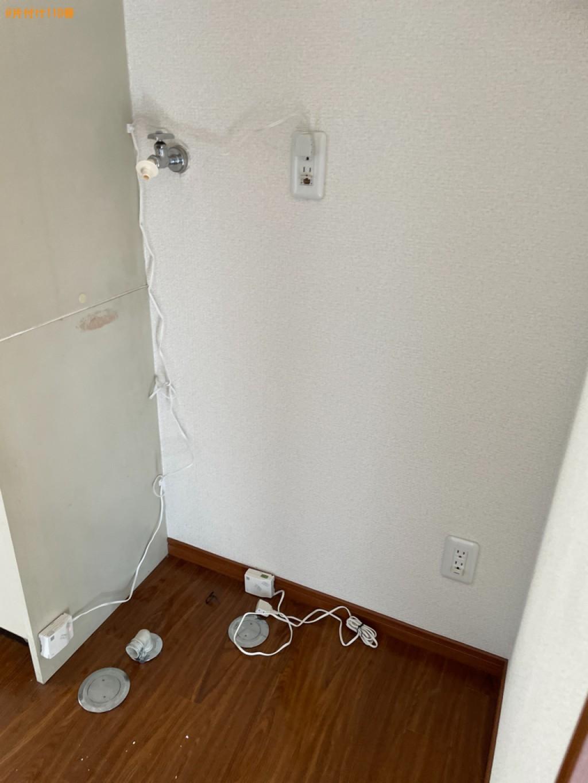 冷蔵庫、洗濯機、こたつ、マットレス付きシングルベッド等の回収